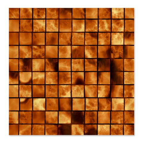 Amber Brown Marble Tiles Shower Curtain