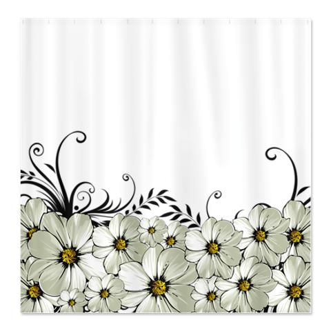 Daisy Morning Shower Curtain in my Cafe Press store.  Save money by purchasing through my shop.