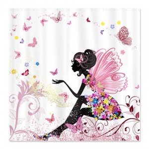 Flower Fairy Girl 1 Shower Curtain