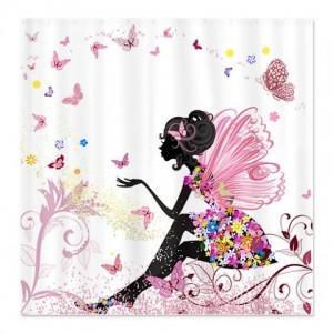 Flower Fairy Girl 1 Shower Curtain