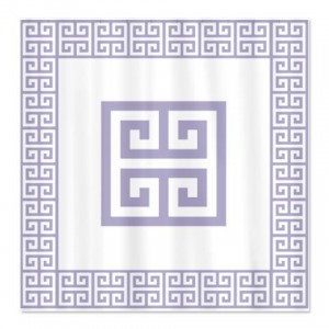 Greek Key Lavender Shower Curtain