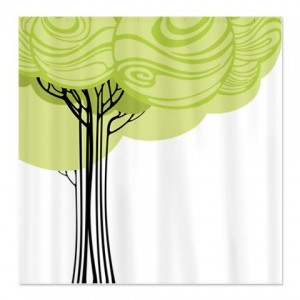 Pretty Modernist Tree Shower Curtain