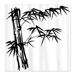 Japanese Bamboo Shower Curtain