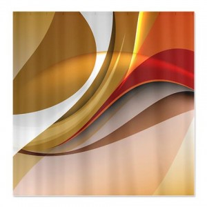 Abstract Art Curves Shower Curtain