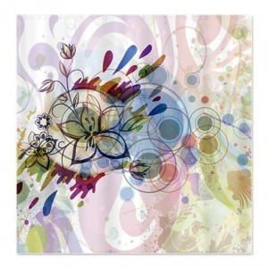 Abstract Art Flower Shower Curtain