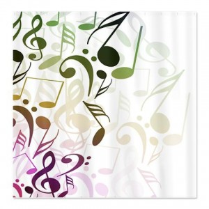 Abstract Musical Notes Shower Curtain