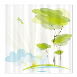Abstract nature landscape Shower Curtain