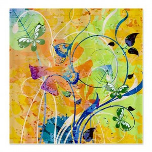 Batik Butterflies Shower Curtain