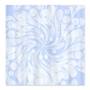 Blue Floral Splash Shower Curtain