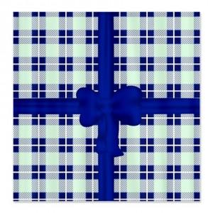 Blue Tartan Plaid Shower Curtain
