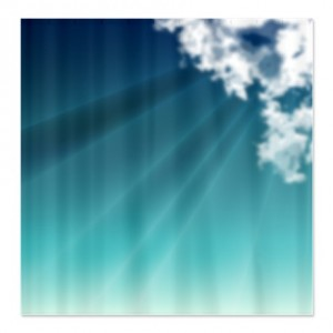 Cloud and Sun Rays Shower Curtain