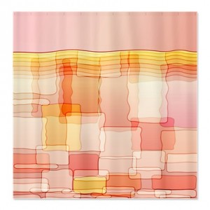 Dreamy Abstract Art Shower Curtain