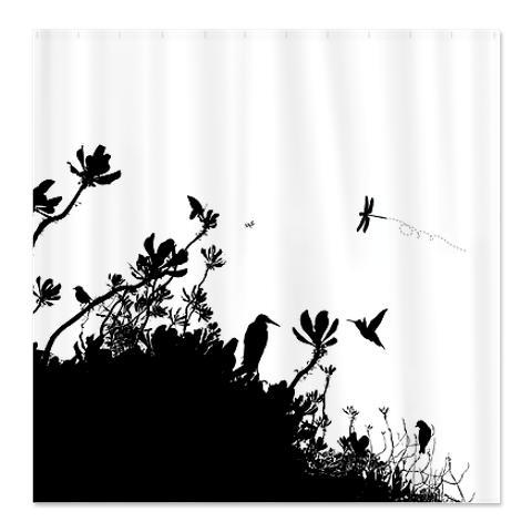 Everglade - Marsh Silhouette 1 Shower Curtain