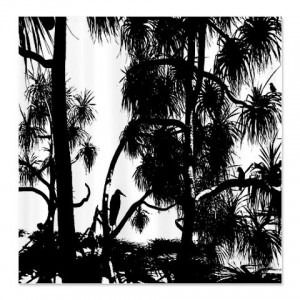 Everglade - Marsh Silhouette 2 Shower Curtain