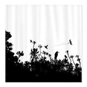 Everglade - Marsh Silhouette 4 Shower Curtain