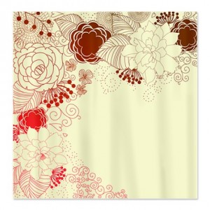 Bold Brown, Red and Magenta Shower Curtain
