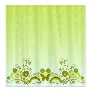 Butterfly Flower Shower Curtain