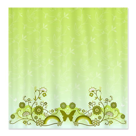 Butterfly Flower Shower Curtain