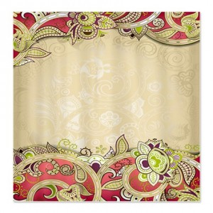 Indian Ham Floral Print 3 Shower Curtain