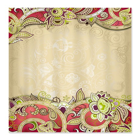 Indian Ham Floral Print 3 Shower Curtain