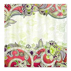 Indian Ham Floral Print 3a Shower Curtain