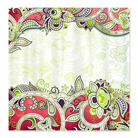 Indian Ham Floral Print 3a Shower Curtain