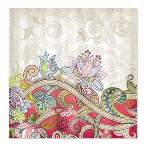 Indian Ham Floral Print 4 Shower Curtain