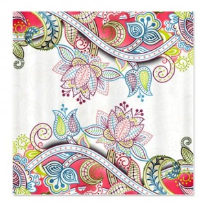 Indian Ham Floral Print 4a Shower Curtain
