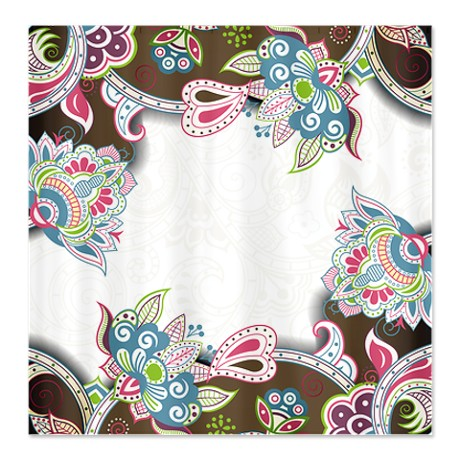 Indian Ham Floral Print 5b Shower Curtain
