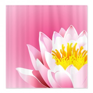 Lovely Pink Lotus Flower Shower Curtain