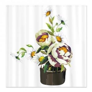 Pot o' flowers Shower Curtain