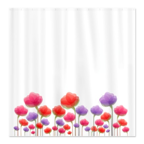 Pretty Colorful Abstract Floral Shower Curtain