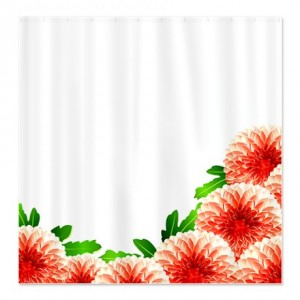 Pretty Red Mums Shower Curtain