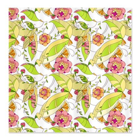Pretty Whimsical Floral 1 Shower Curtain