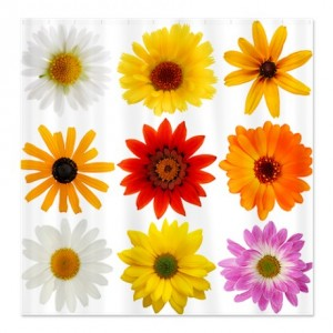 Real Fresh Flowers Shower Curtain