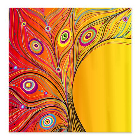 orange floral shower curtain. Fantasy Peacock Feather Shower Curtain Makanahele Com  Category Floral Curtains