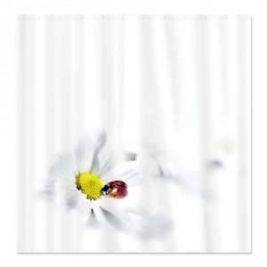 Ladybug Daisy Shower Curtain