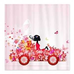 Flower Fairy Girl 2 Shower Curtain