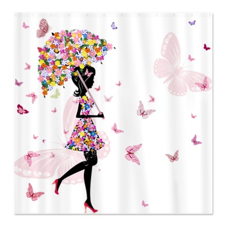 Flower Fairy Girl 4 Shower Curtain