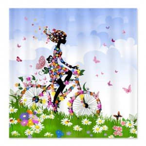 Flower Fairy Girl 5 Shower Curtain