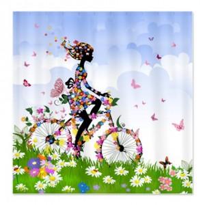 Flower Fairy Girl 5 Shower Curtain
