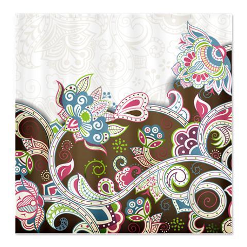 Indian Ham Floral Print Shower Curtain
