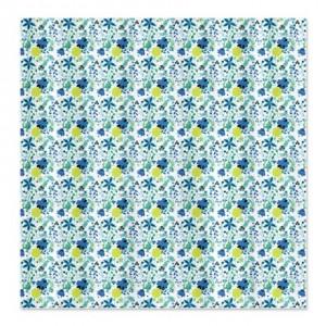 Butterfly Flowers Pattern Shower Curtain