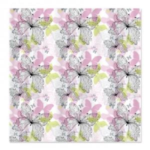 Pink and Green Butterflies Shower Curtain