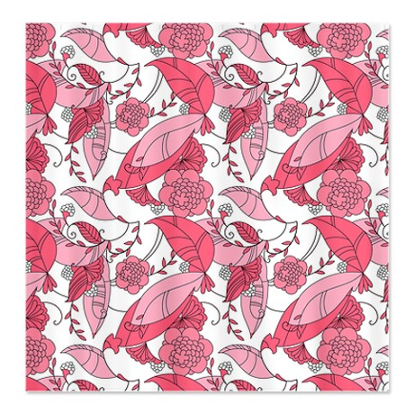 Shades of Pink Floral Shower Curtain