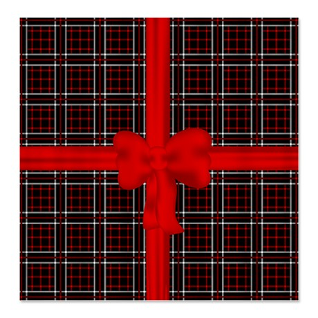 Black Red and White Plaid Shower Curtain