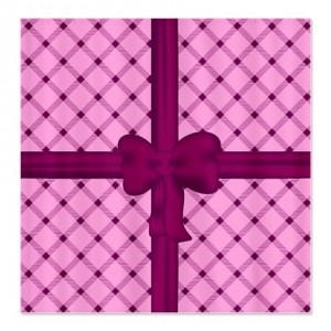 Pink and Purple Gingham Check Shower Curtain