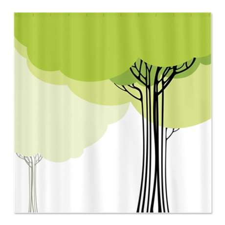 Pretty Modernist Tree Design 1 Shower Curtain