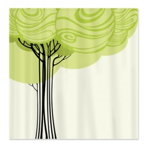 Pretty Modernist Tree Design 2a Shower Curtain