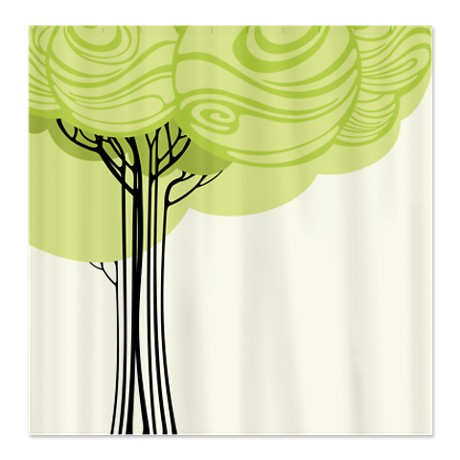Pretty Modernist Tree Design 2a Shower Curtain